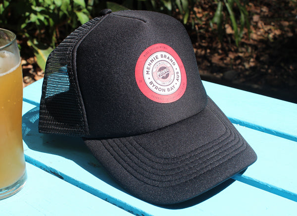 KINGSLEY CURVED BRIM TRUCKER CAP
