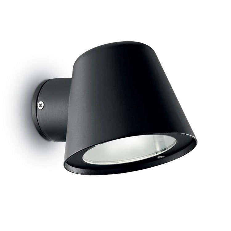 Ideal lux 020228 gas black outdoor modern down head wall spot ideal lux 020228 discount home lighting aloadofball Image collections