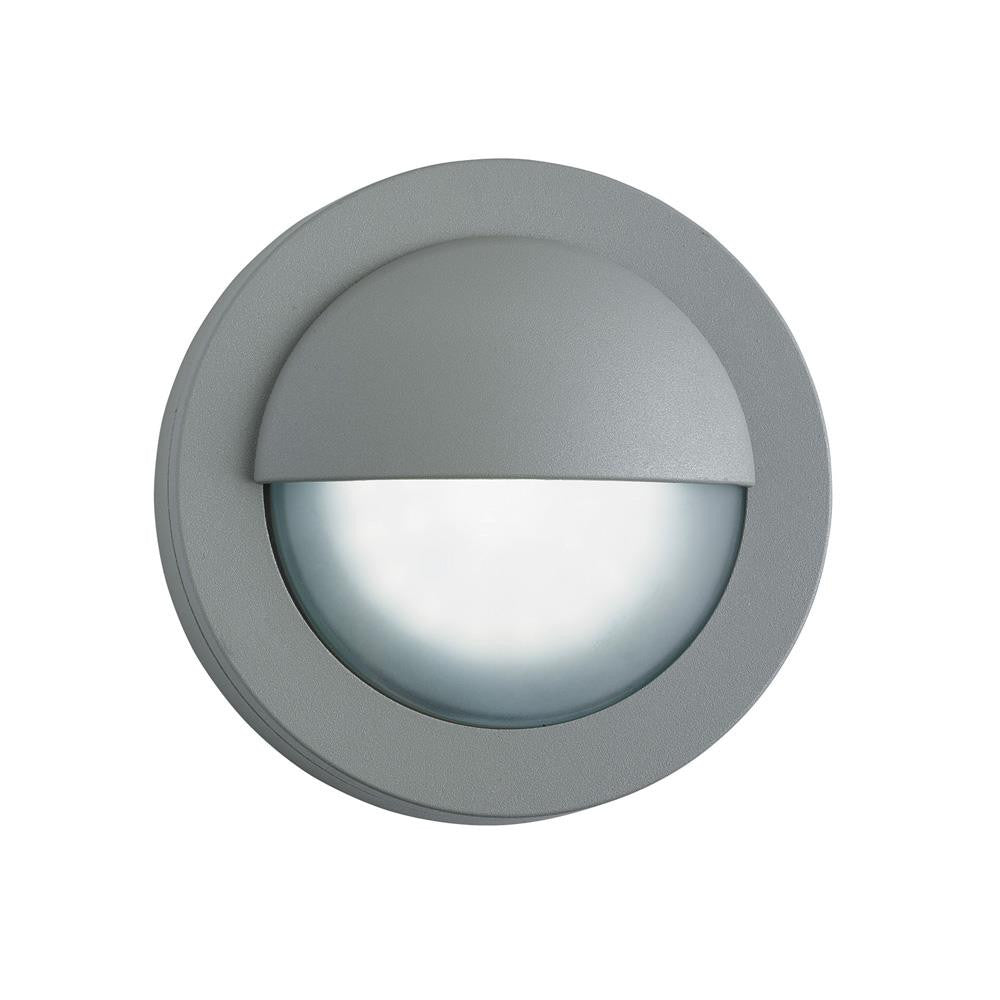 Searchlight 1402gy led grey outdoor round bulkhead wall light acid searchlight 1402gy discount home lighting aloadofball Images