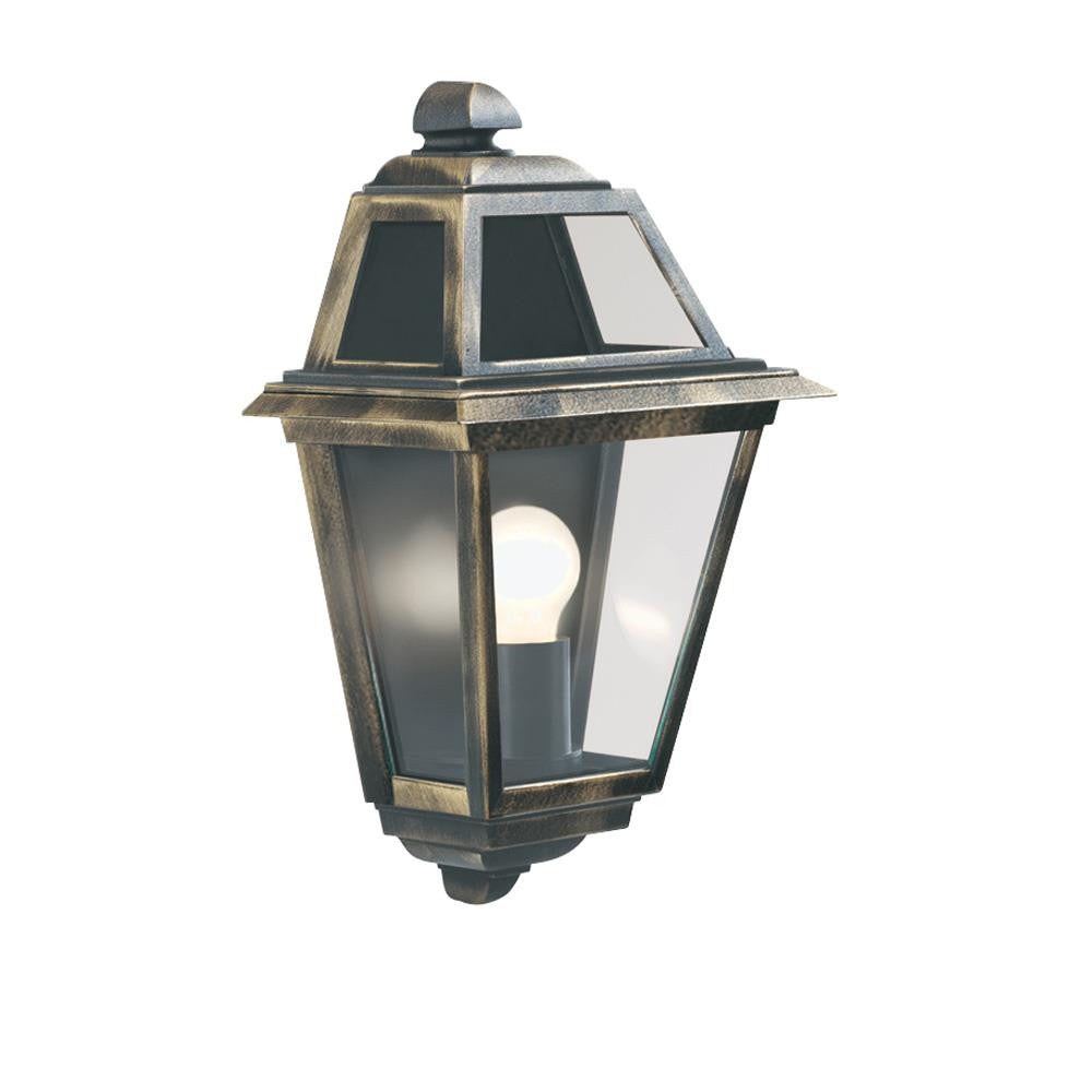 Searchlight 1523 New Orleans Black Gold Outdoor Half Flush Wall