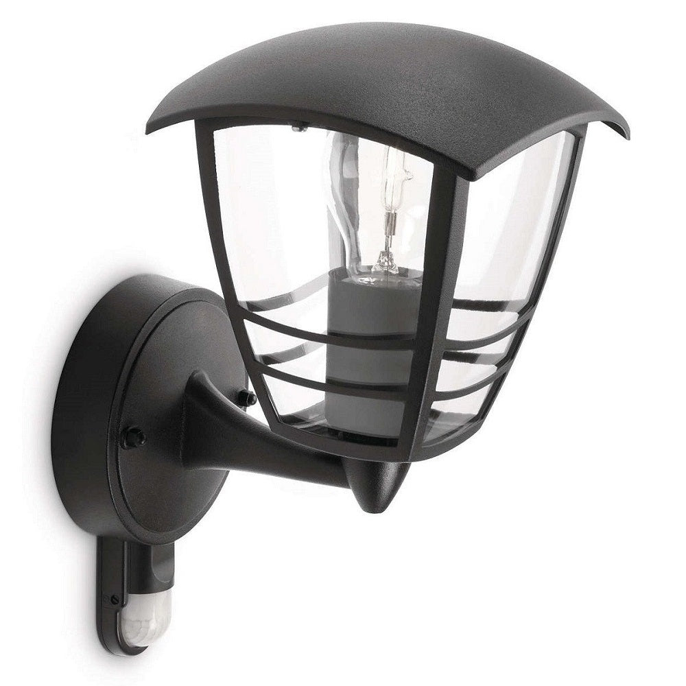 Philips 15388/30/16 Black Outdoor Up Lantern Wall Light PIR 153883016