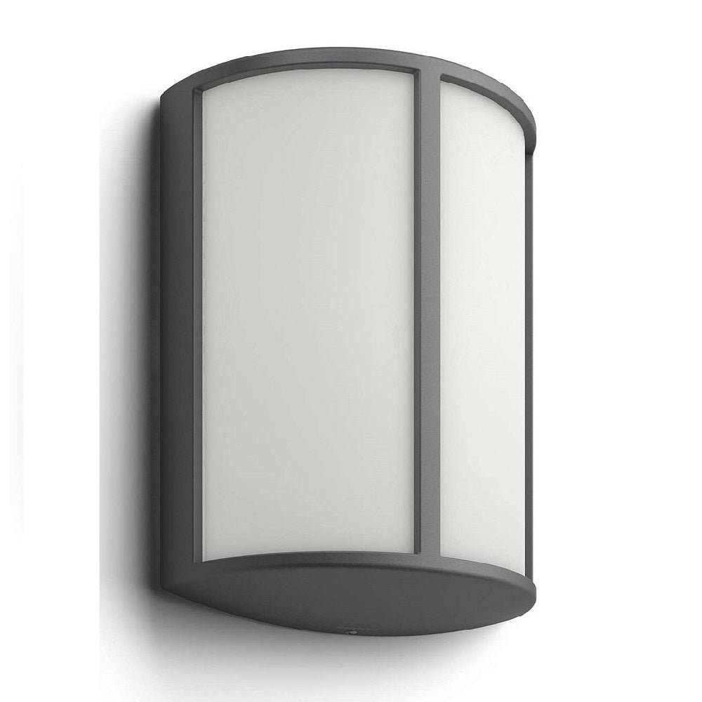 Philips 16464/93/16 LED Anthracite Outdoor Curved Wall Light 164649316