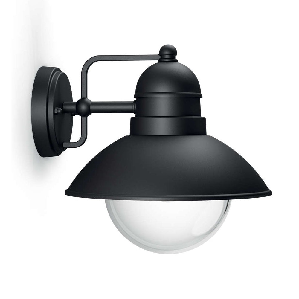Philips 17237/30/PN Black Outdoor Down Lantern Wall Light (1723730PN)