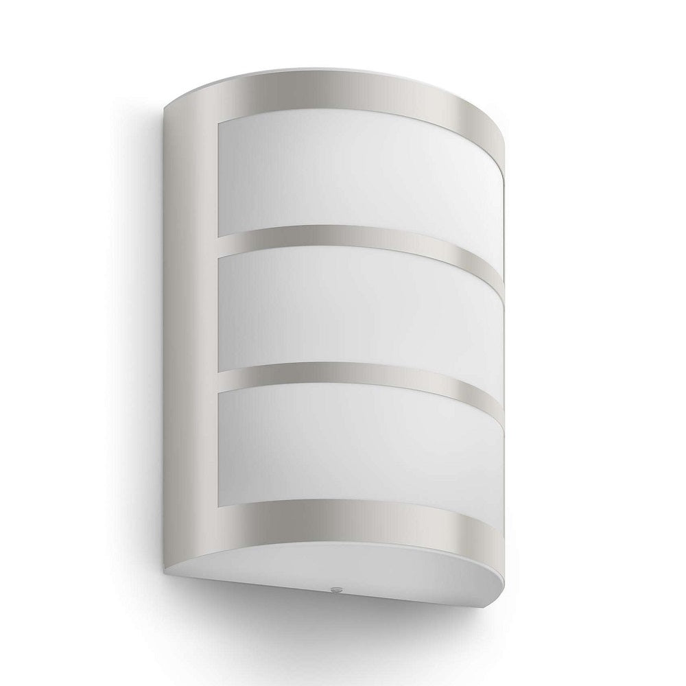 Philips 17323/47/16 LED Stainless Steel Outdoor Curve Flush Wall Light