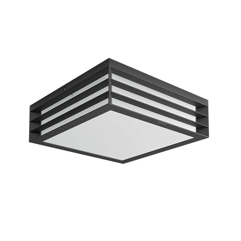 Philips 17350/93/PN Anthracite Outdoor Square Flush Light with Grille