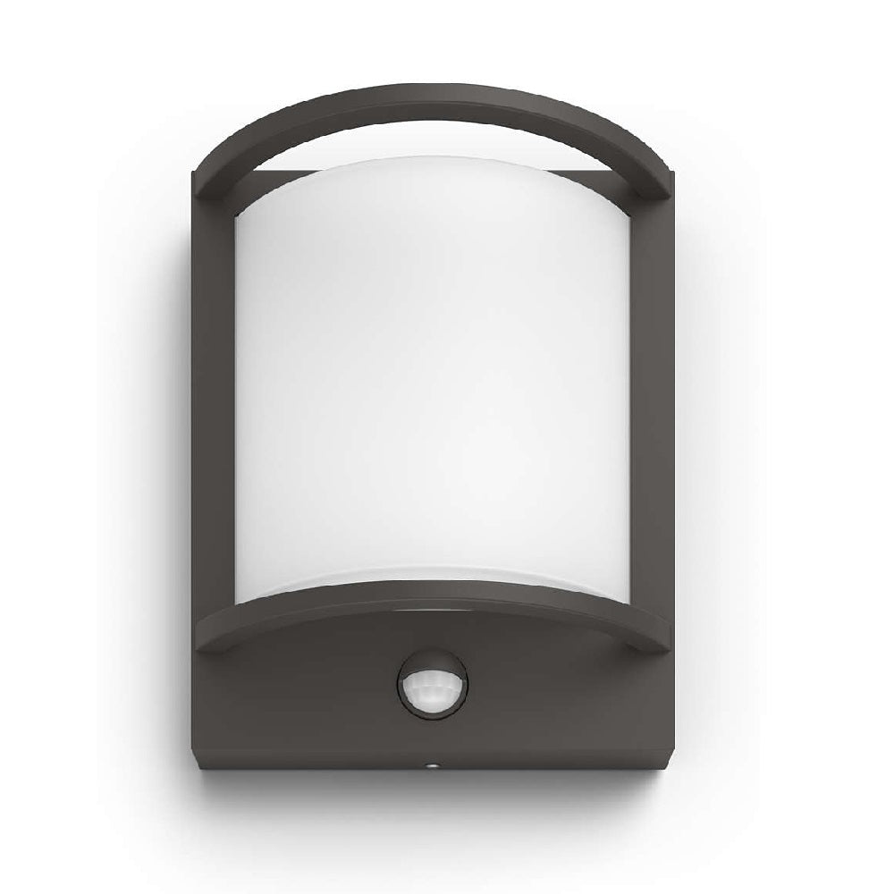 Philips 17392/93/P0 LED Anthracite Outdoor Curve Wall Light PIR