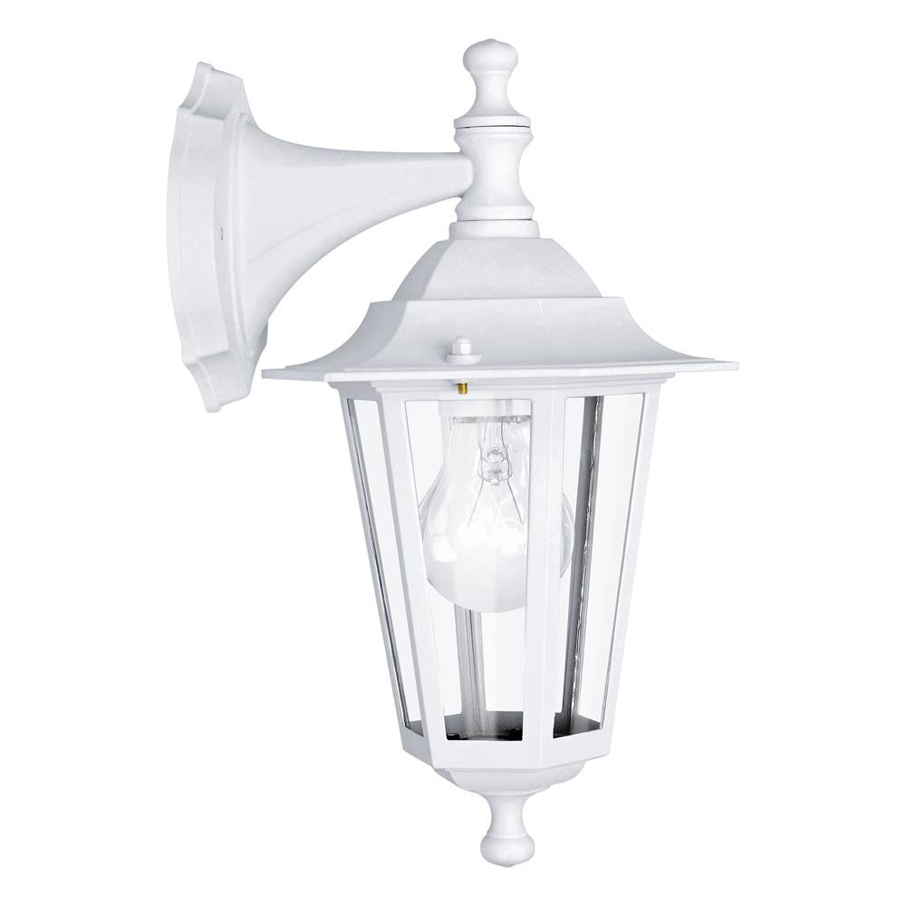 White outdoor lighting white exterior lights white outdoor led eglo 22462 laterna 5 outdoor matt white 1 lamp down lantern wall light mozeypictures Gallery