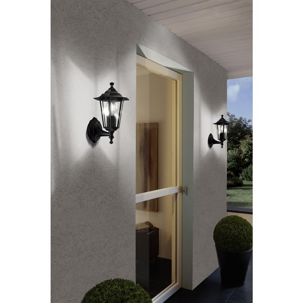 Eglo 22468 Laterna 4 Outdoor Black 1 Lamp Up Lantern Wall Light