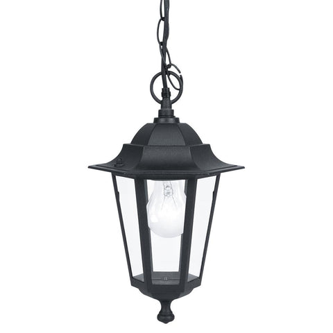 Outdoor pendant lights exterior pendant lighting outdoor eglo 22471 laterna 4 outdoor black 1 lamp lantern pendant light mozeypictures Choice Image