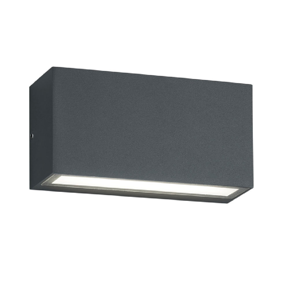 LED Anthracite Modern Rectangular Outdoor Up Down Wall Light
