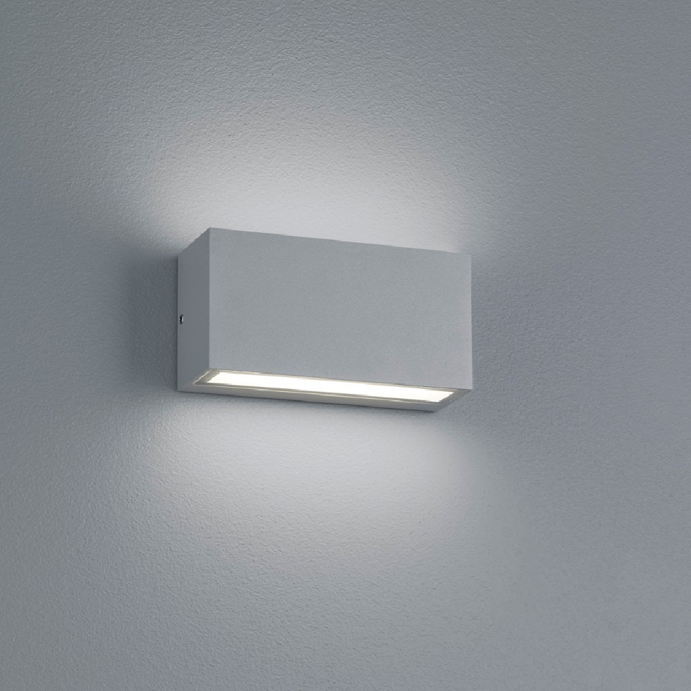 LED Matt Grey Modern Up Down Exterior Wall Light