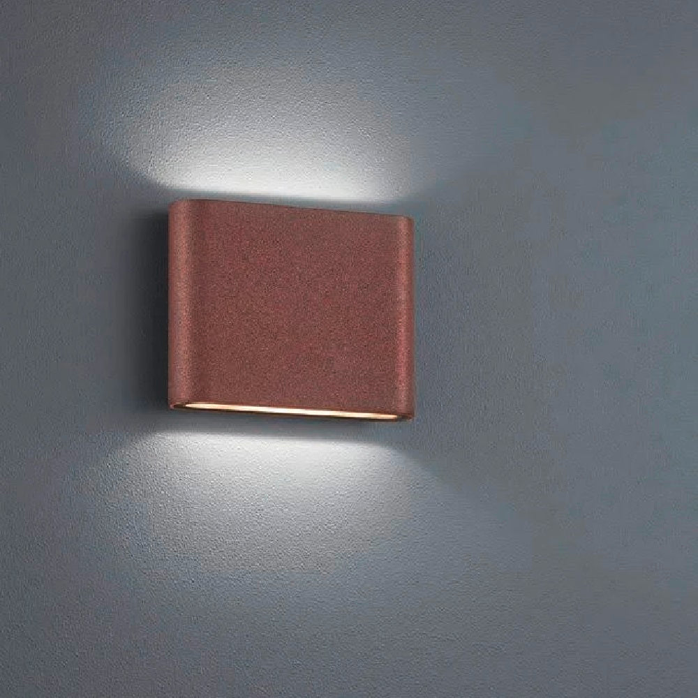 LED Antique Brown Modern Up Down Slimline Exterior Wall Light
