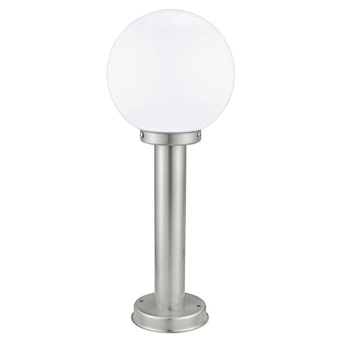 Outdoor pedestal llighting exterior pedestal lights led eglo 30206 nisia outdoor stainless steel pedestal light with opal globe aloadofball Choice Image