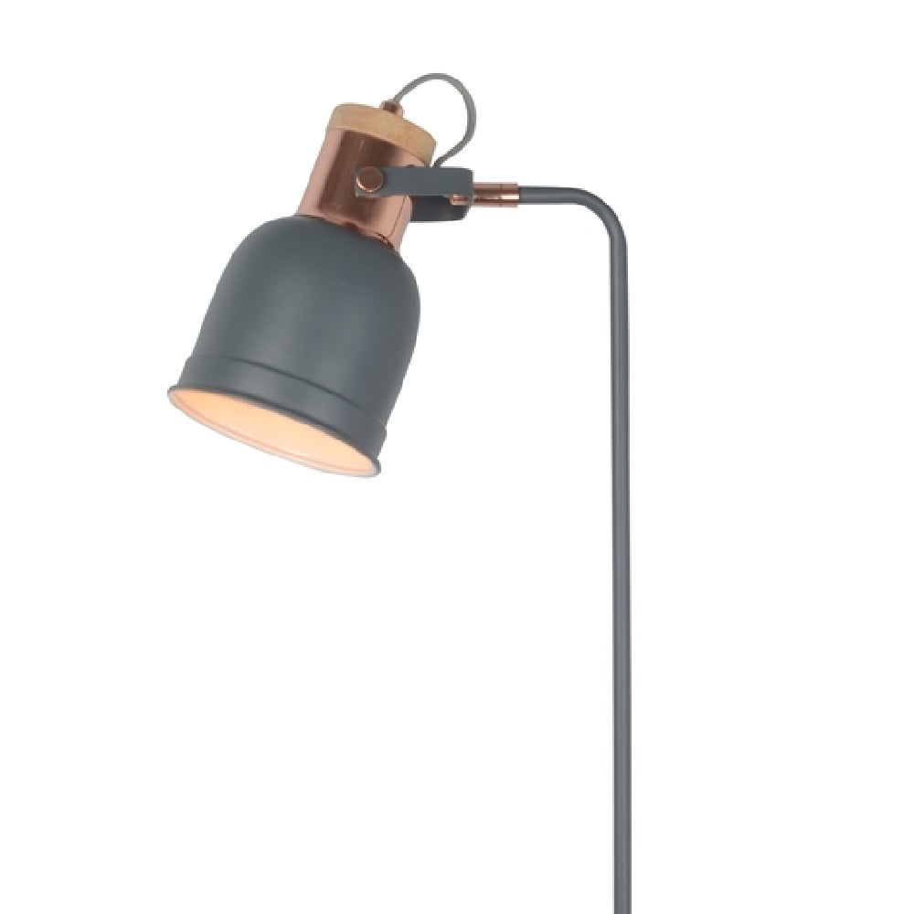 Grey and Copper Vintage Retro Floor Lamp