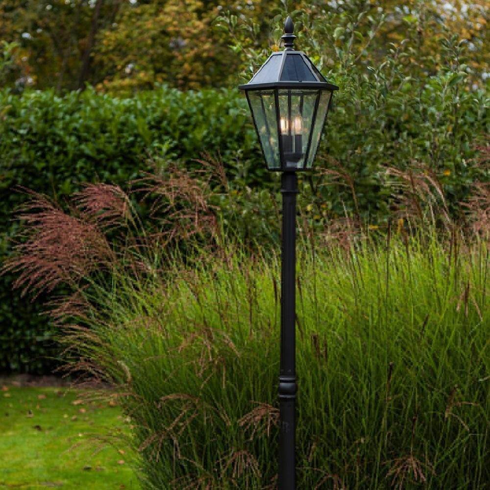 Lutec Outdoor Solar Power Post Light Traditional