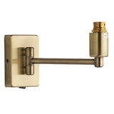 Britalia 220054 Antique Brass Vintage Switched Swing Arm Wall Light Bracket