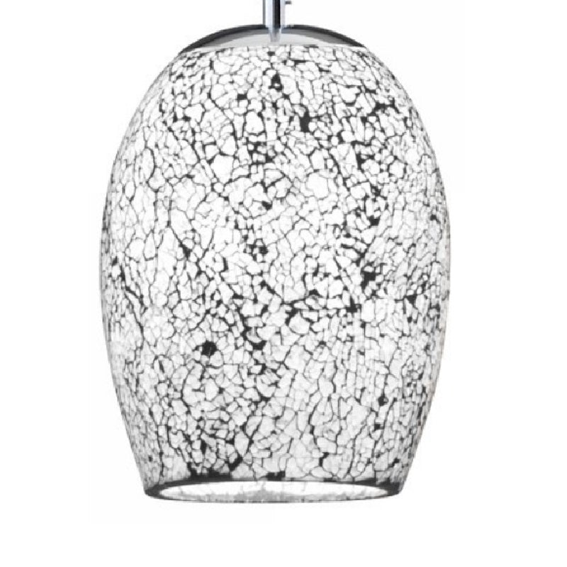 Searchlight Crackle Glass Mosaic Pendant