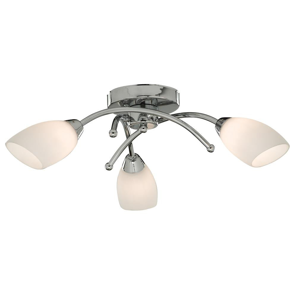 066f910bbd09 ... Polished Chrome 3 Lamp Semi Flush Light with Opal Glass Shades.  Searchlight 8183-3CC | Discount Home Lighting