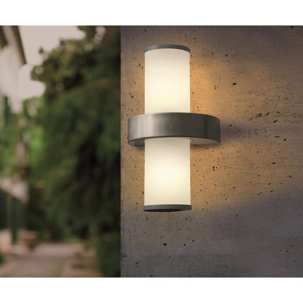 Eglo 86541 Beverly Stainless Steel & Silver Modern Outdoor Up & Down Wall Light