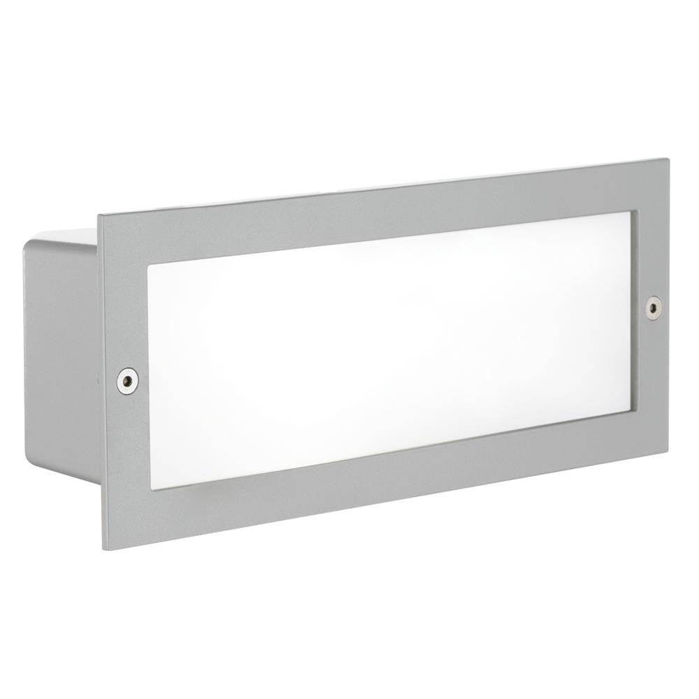 Silver Square Recessed Outdoor Wall Light Eglo 88008