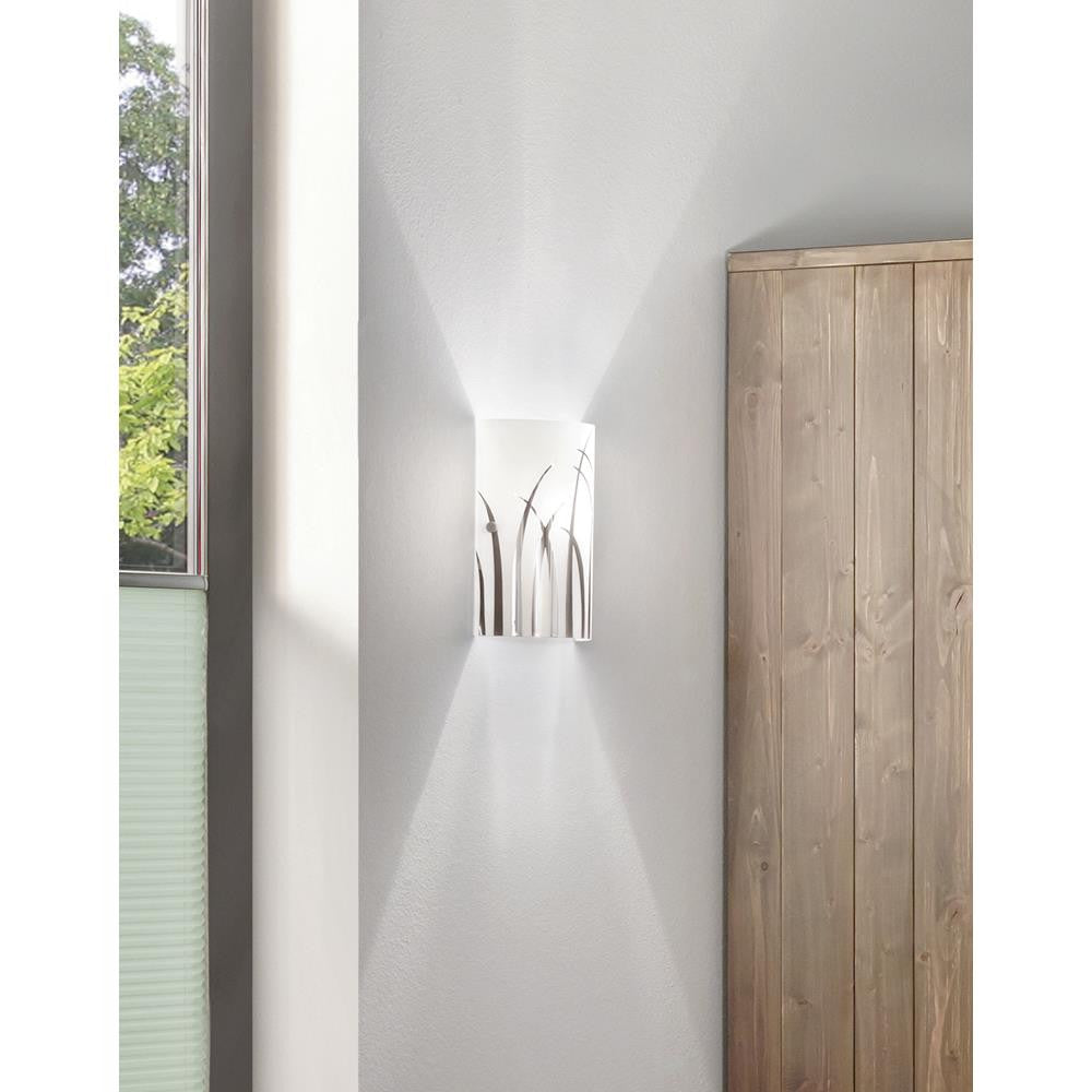 Eglo 92742 Rivato Chrome & Coated Glass 1 Lamp Wall Light