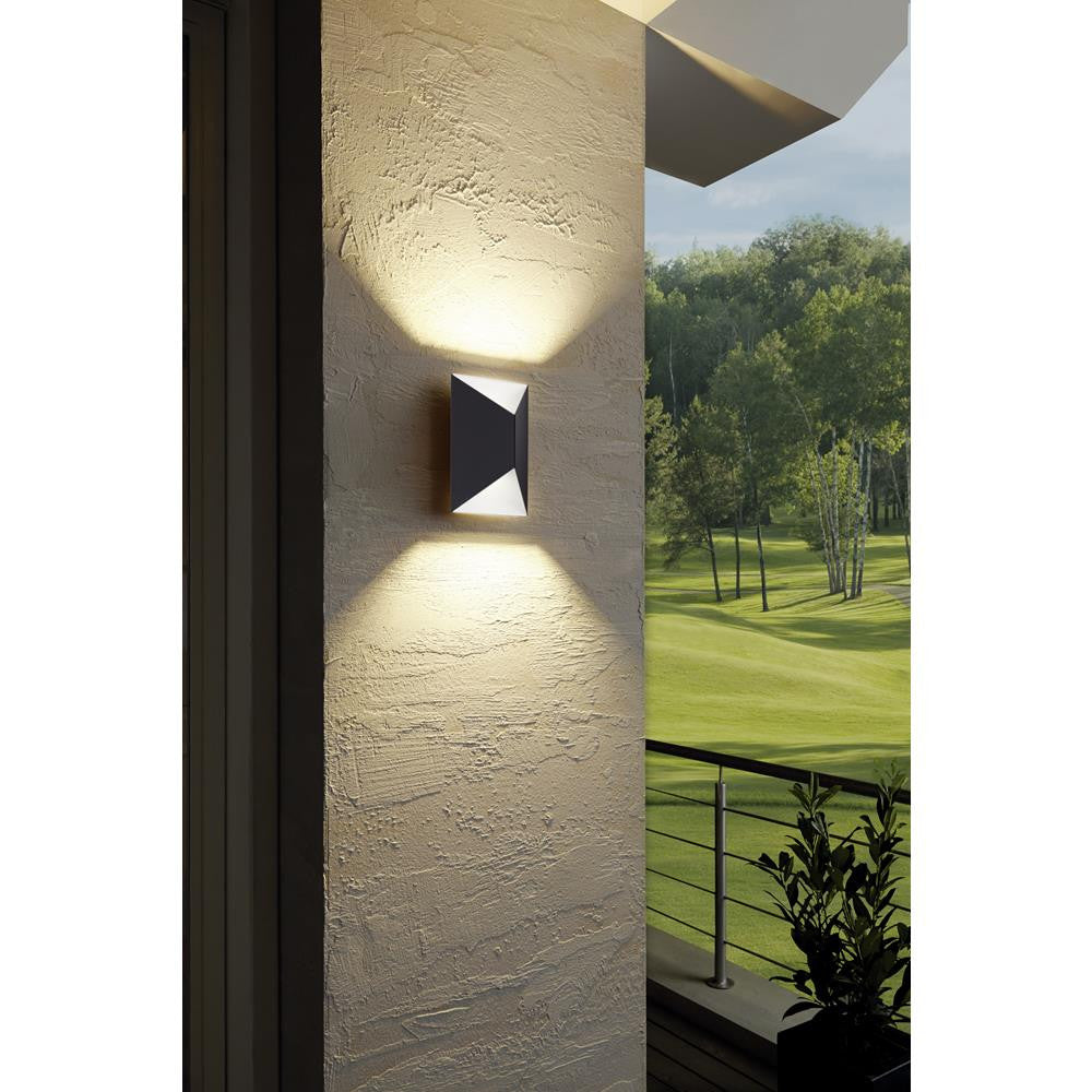 Eglo 93994 Predazzo LED Outdoor Anthracite & White Modern Up & Down Wall Light