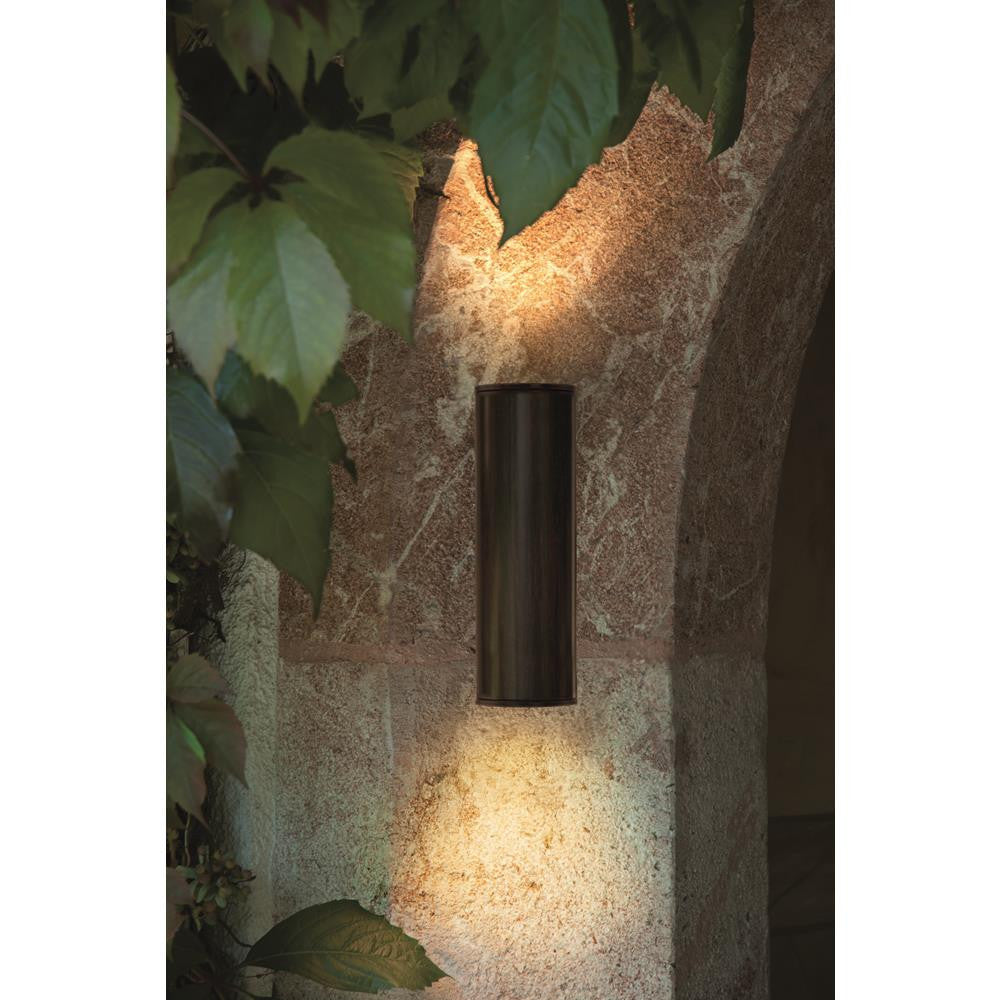 Eglo 94105 Riga LED Outdoor Antique Brown 2 Lamp Up & Down Modern Wall Light