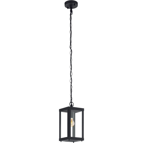 Black outdoor lighting black exterior lights outdoor black led eglo 94788 alamonte 1 black outdoor square glass lantern pendant light aloadofball Image collections