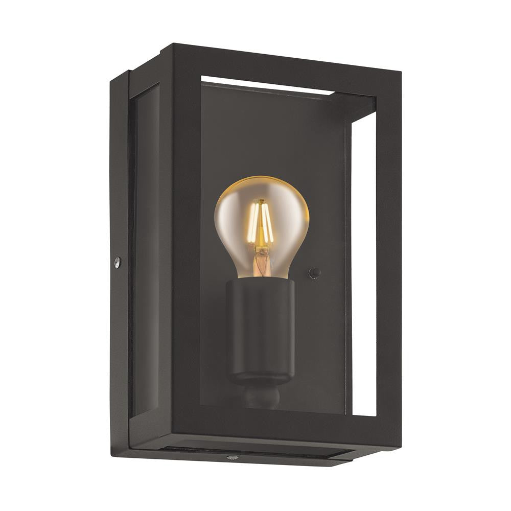 Eglo 94831 alamonte 1 black outdoor traditional lantern wall light eglo 94831 discount home lighting aloadofball Image collections