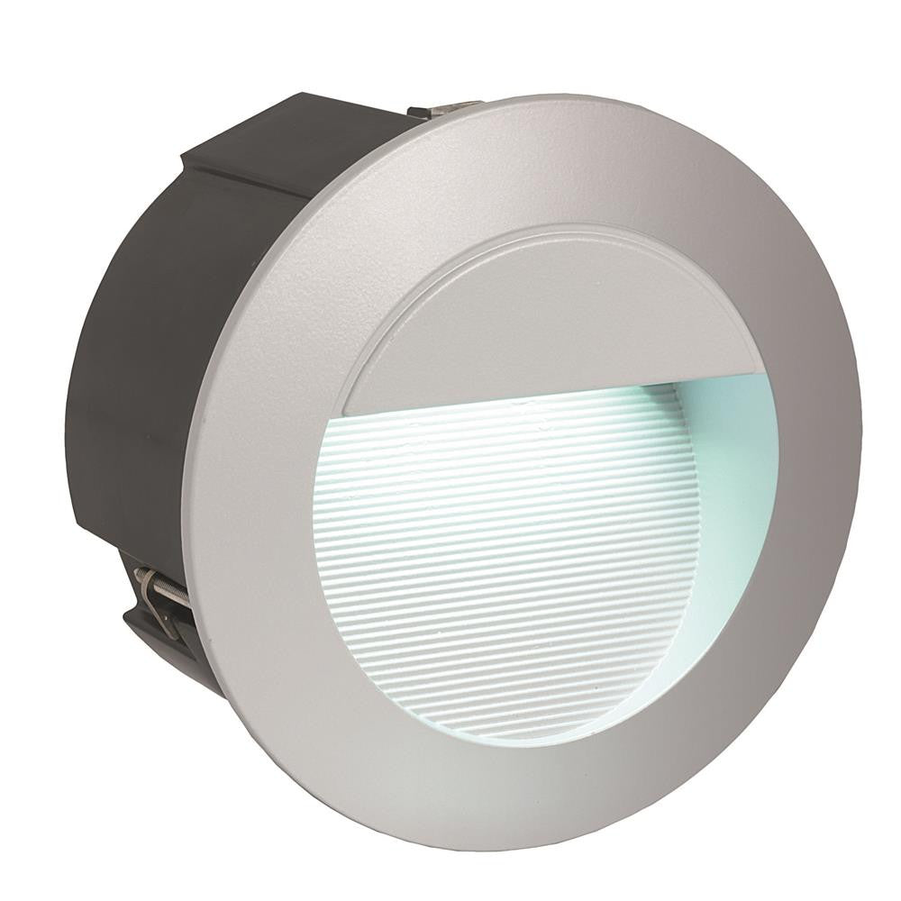 Eglo 95233 Zimba LED Silver Outdoor Modern Round Recessed Wall Light