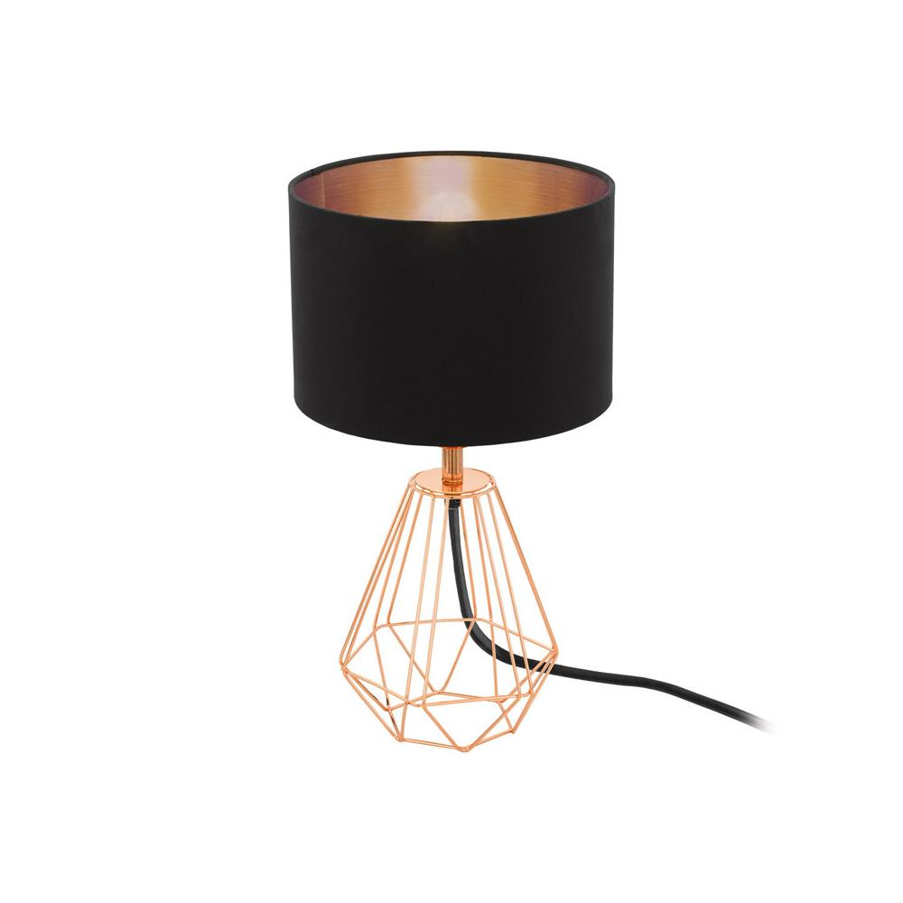 Eglo 95787 carlton 2 copper wire vintage table lamp with black wire vintage table lamp with black shade eglo 95787 discount home lighting greentooth Image collections
