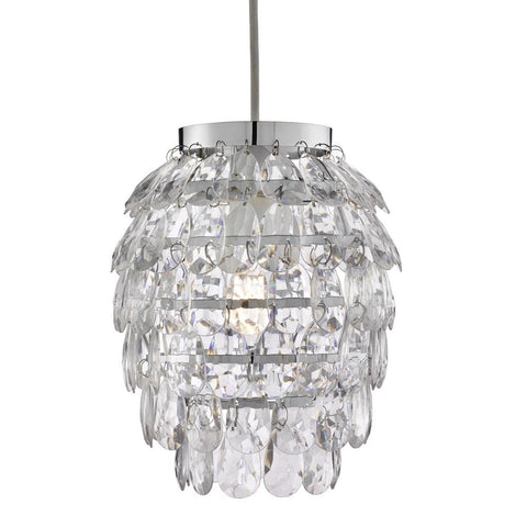 Britalia Lighting Clear Acrylic Pineapple None Electric Shade