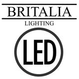 Britalia LED Modern  Single Twist Nickel Table Light