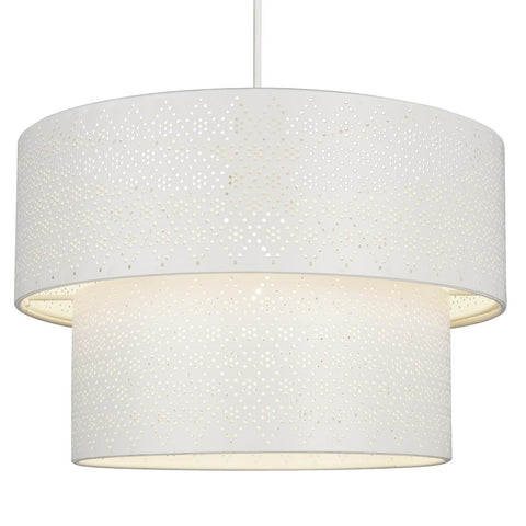 Britalia Lighting Matt Cream Fretwork None Electric Shade