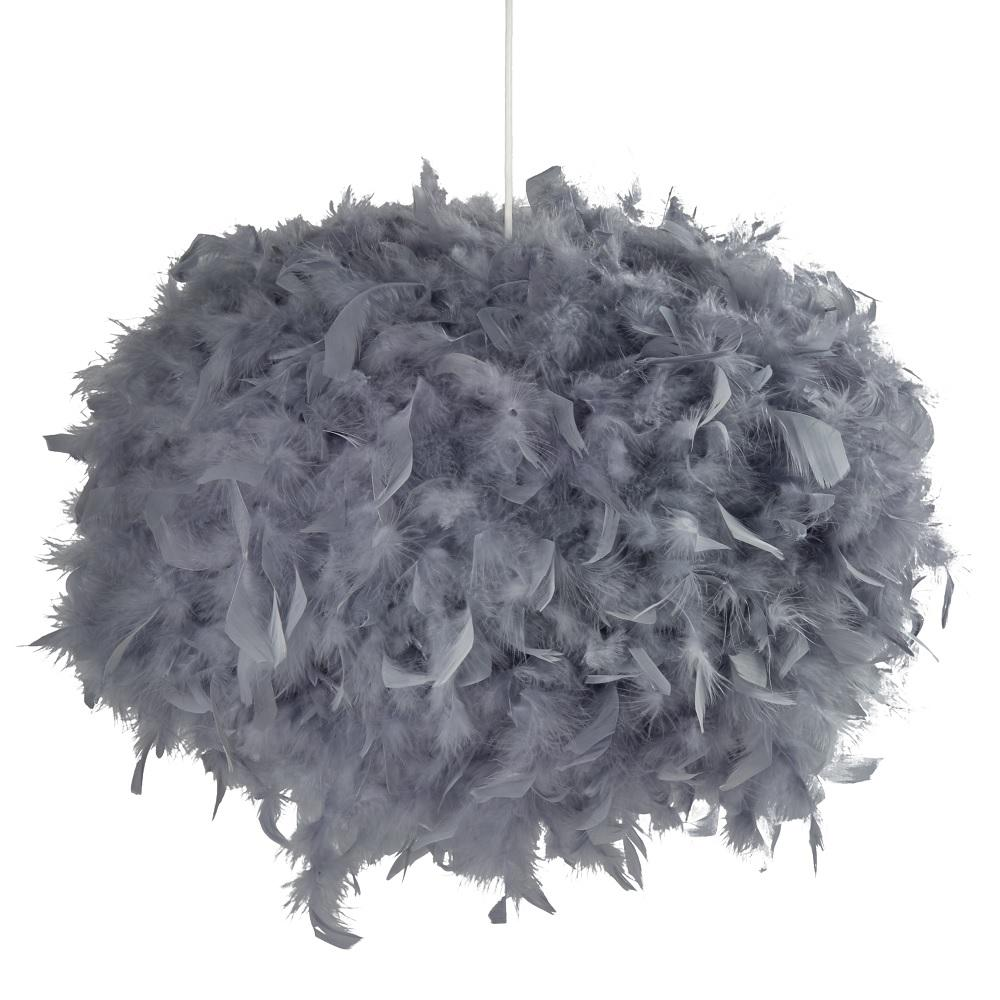 Britalia Lighting Grey Feather None Electric Shade