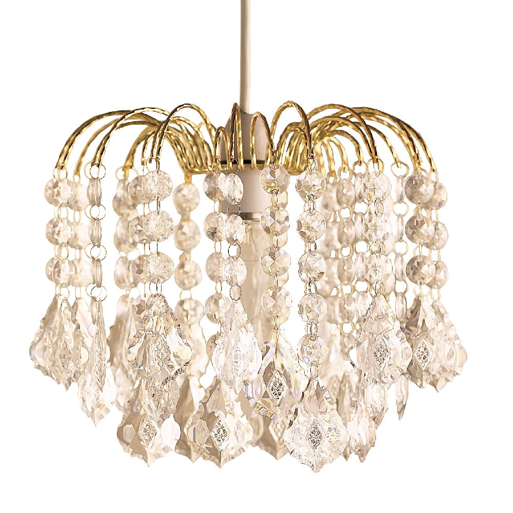 Britalia 660004 | Gold & Clear Crystal Bead Shade | BRT660004
