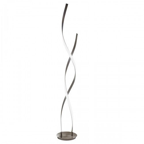 Febland lb45 satin nickel led double twist modern floor lamp febland lb45 discount home lighting mozeypictures Choice Image