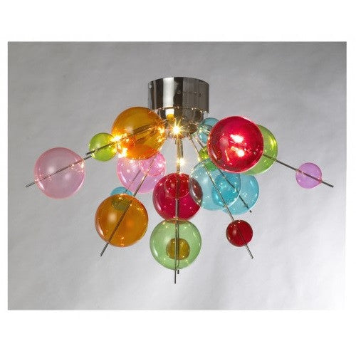 Febland lbl23c6c molecular multi coloured bauble 6 lamp semi febland lbl23c6c discount home lighting aloadofball Image collections