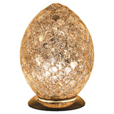 Febland LM74CG Gold Mosaic Glass Vintage Egg Table Lamp 30cm