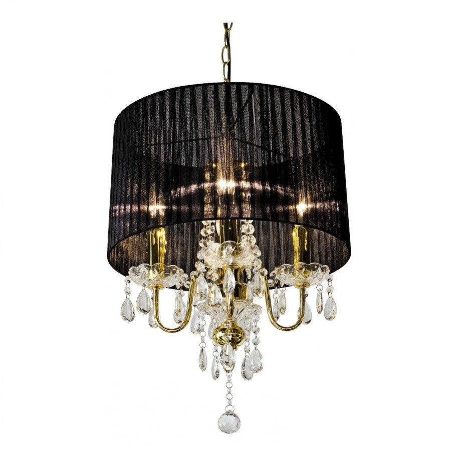 Febland lw365c4go beaumont gold 4 lamp black shade pendant black shade pendant chandelier febland lw365c4go discount home lighting mozeypictures