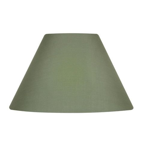 Oaks Lighting S501 12 SE Sage Green Cotton Coolie Hard Lined Lamp Shade