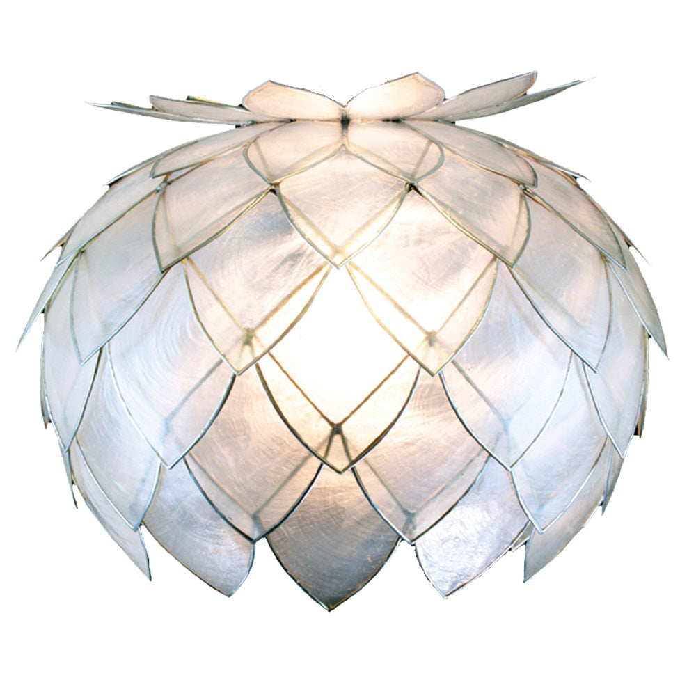Britalia 660007 | Silver & Natural White Capiz Shell Shade | BRT660007