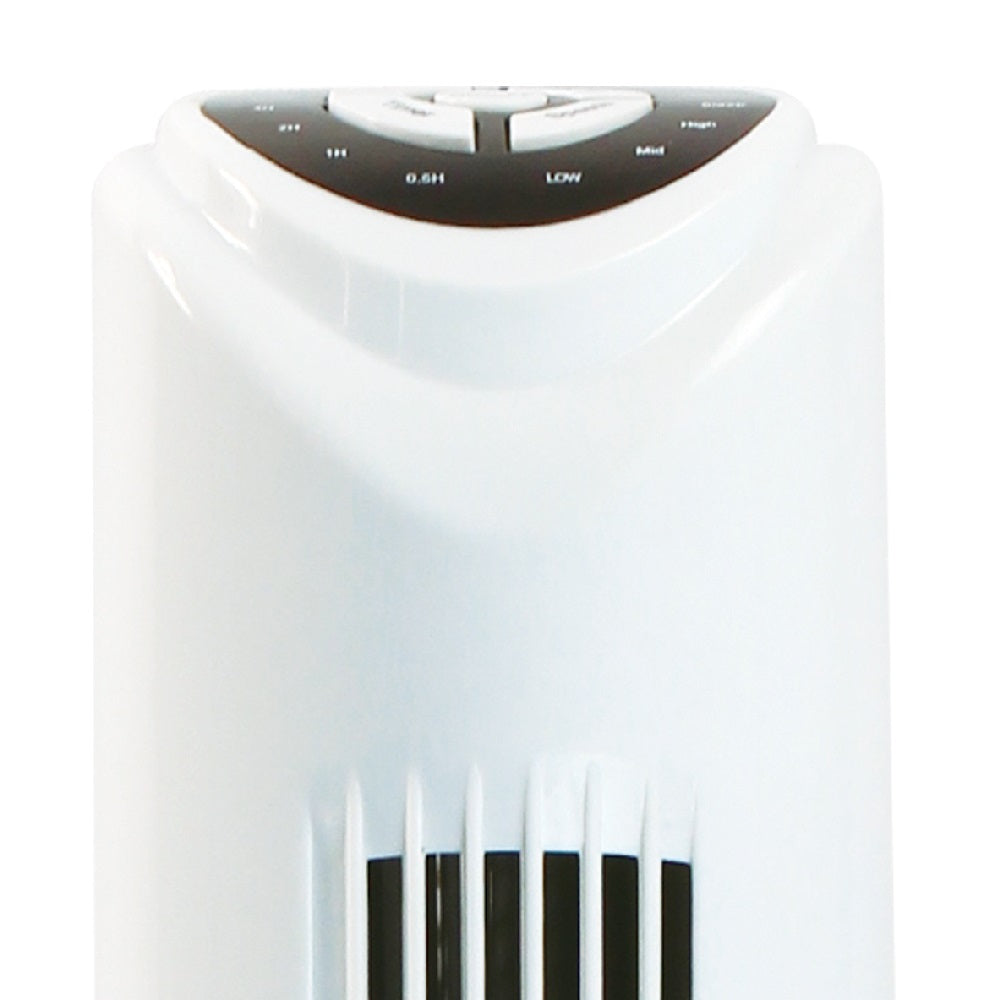 White Remote Tower Floor Fan