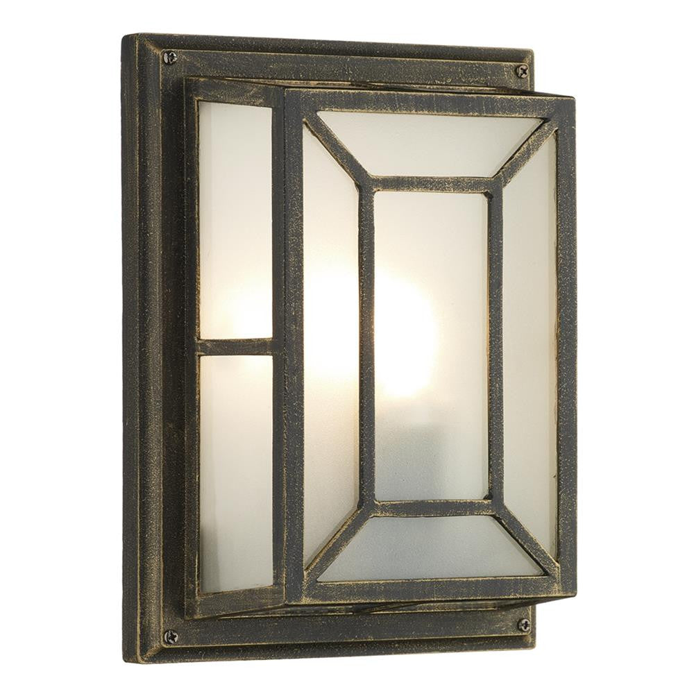 Dar tre5254 trent black gold outdoor square flush light outdoor square flush light dar tre5254 discount home lighting aloadofball Images