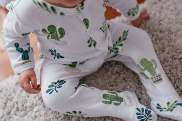 Wyatt Cactus Footed Growsuit