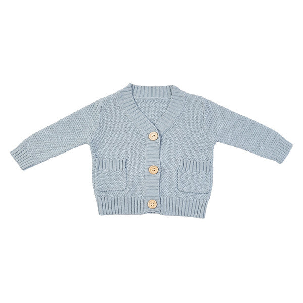 Carson Knit Cardigan - Duck Egg Blue