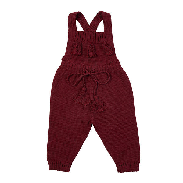 Davey Hand Knit Overall - Burgundy