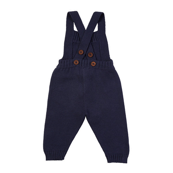 Davey Hand Knit Overall - Navy