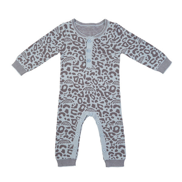Dawson Knit Onesie - Duck Egg Blue