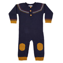 Load image into Gallery viewer, Fairisle Hand Knit Jumpsuit - Navy